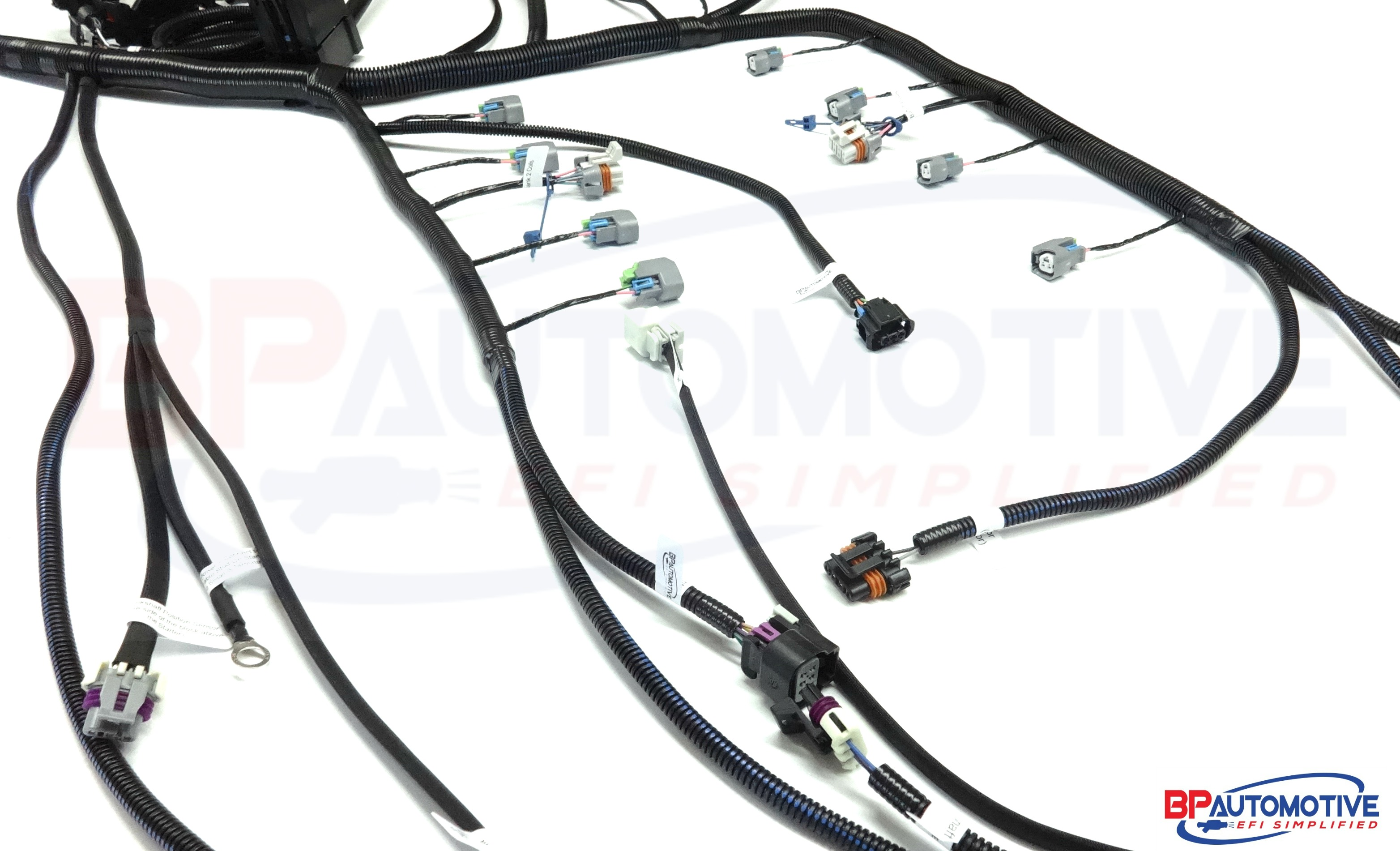 2007 2014 gen iv ls3 based 4 8 5 3 6 0 6 2 6l80e ls3 standalone rh bp automotive com ls3 wiring harnesses and computers ls3 wiring harness kit