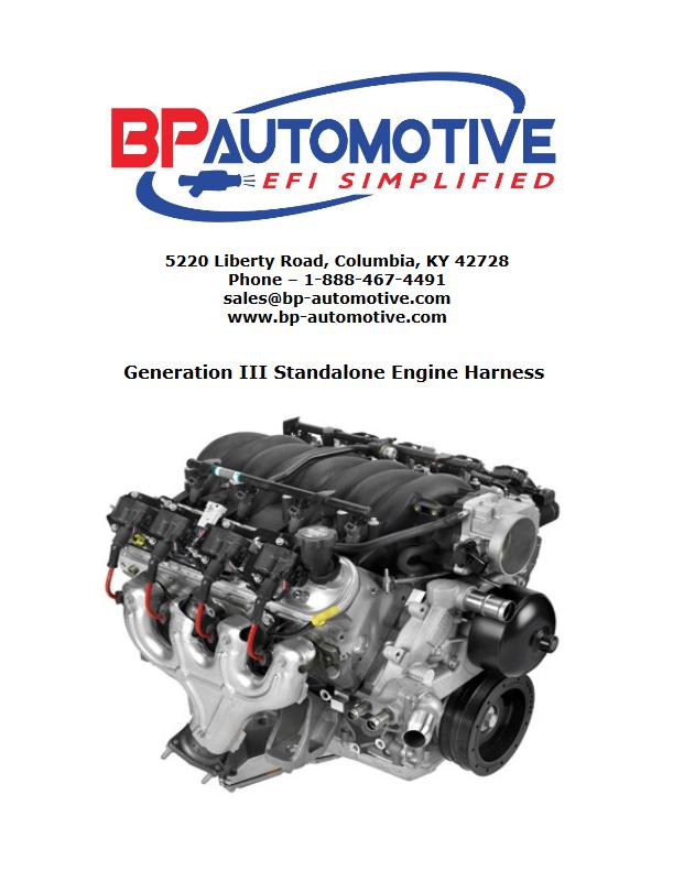 BP Automotive Gen III LS Swap Standalone Harness Instructions